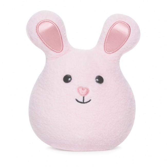 Apple Park Mini Bunny Rattle Apple Park Organic Rattles Pink at Little Earth Nest Eco Shop