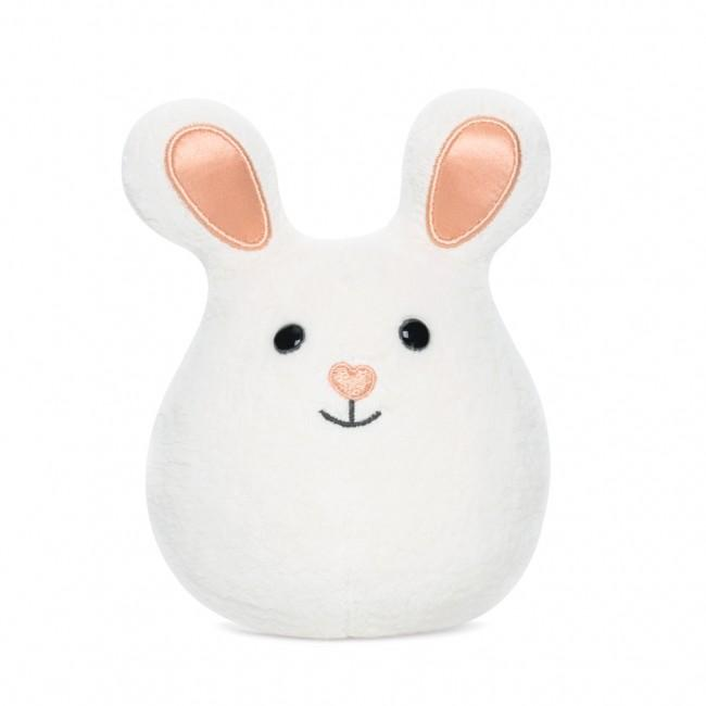 Apple Park Mini Bunny Rattle Apple Park Organic Rattles White at Little Earth Nest Eco Shop