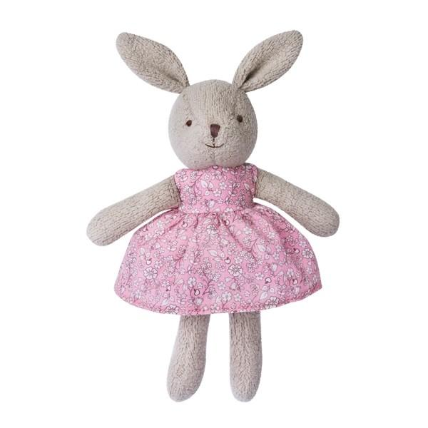 Apple Park Organic Baby Bunny Apple Park Organic Soft Toys Grey at Little Earth Nest Eco Shop