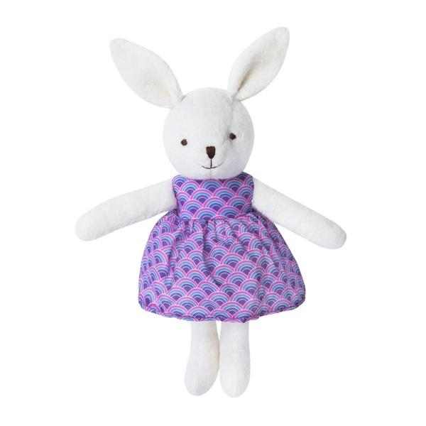 Apple Park Organic Baby Bunny Apple Park Organic Soft Toys White at Little Earth Nest Eco Shop