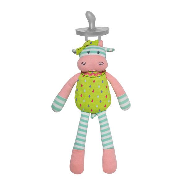 Apple Park Organic Mini Plush Toy with Dummy Holder Apple Park Organic Soft Toys Belle Cow at Little Earth Nest Eco Shop