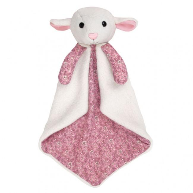 Apple Park Organic Cuddle Blankie Apple Park Organic Baby Gifts Lamby at Little Earth Nest Eco Shop