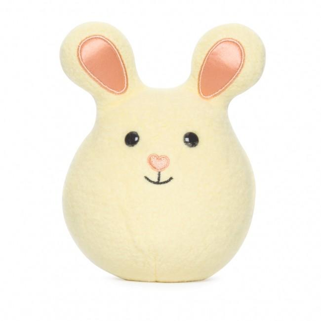 Apple Park Mini Bunny Rattle Apple Park Organic Rattles Yellow at Little Earth Nest Eco Shop
