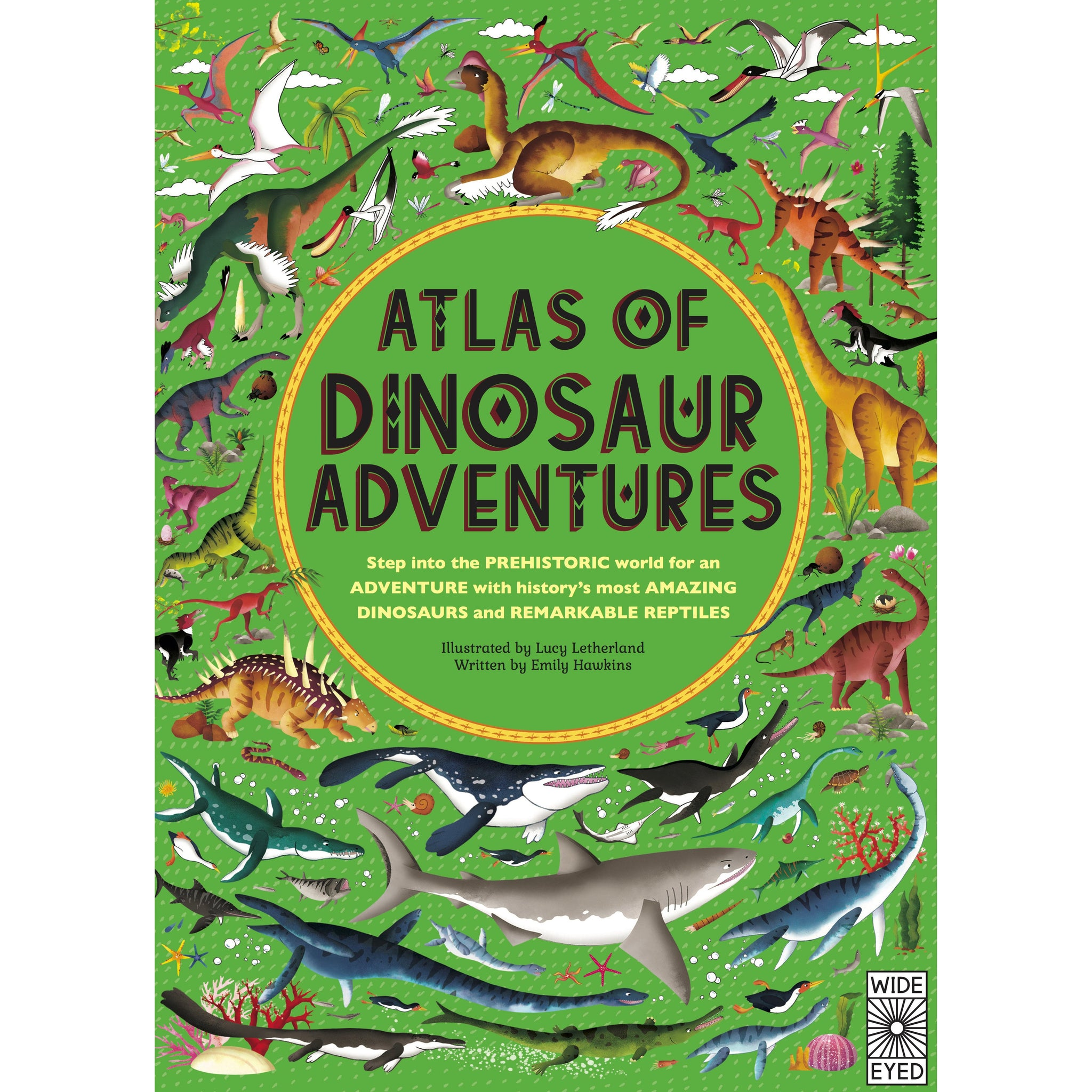 Atlas of Dinosaur Adventures Book Little Earth Nest Books at Little Earth Nest Eco Shop