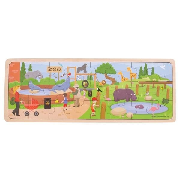 At The Zoo Wooden Puzzle Big Jigs Toys Puzzles at Little Earth Nest Eco Shop