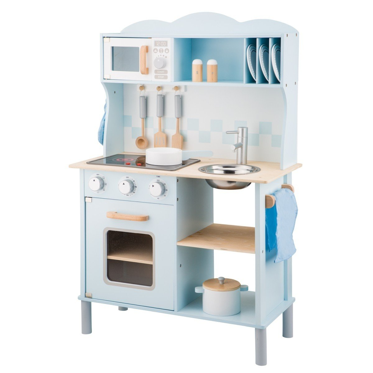 Modern Blue New Classic Toys Kitchenette New Classic Toys Pretend Play at Little Earth Nest Eco Shop