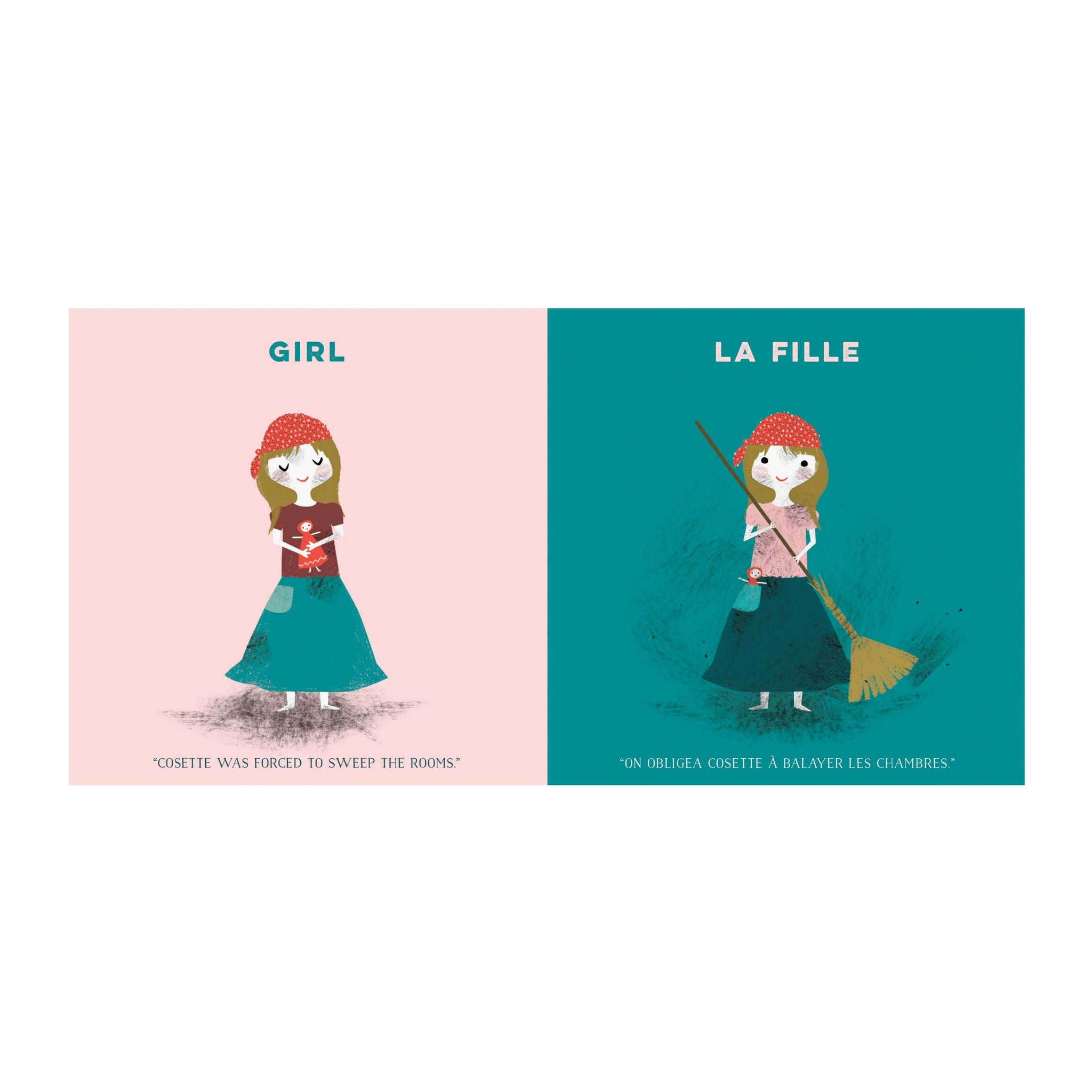 Les Miserables French Language Baby Board Book Babylit Books at Little Earth Nest Eco Shop