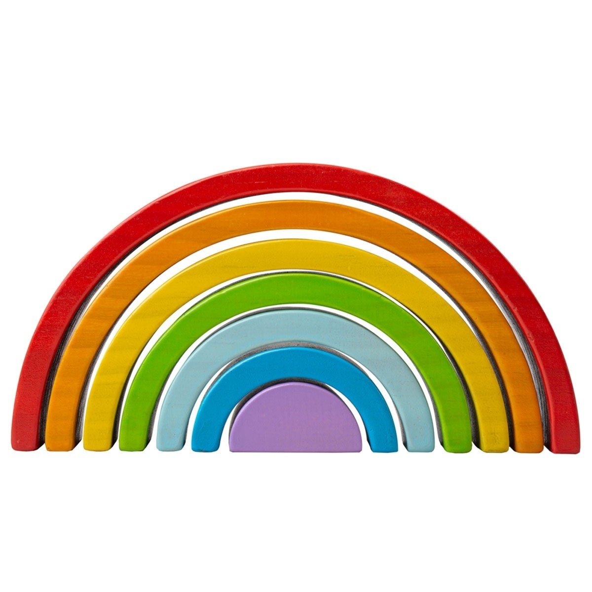 Small Wooden Stacking Rainbow by Bigjigs Big Jigs Toys Activity Toys at Little Earth Nest Eco Shop