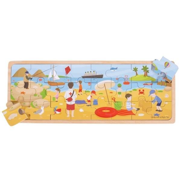 At The Seaside Wooden Puzzle Big Jigs Toys Puzzles at Little Earth Nest Eco Shop