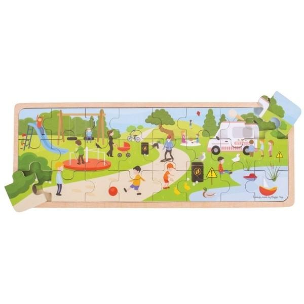In The Park Wooden Puzzle Big Jigs Toys Puzzles at Little Earth Nest Eco Shop