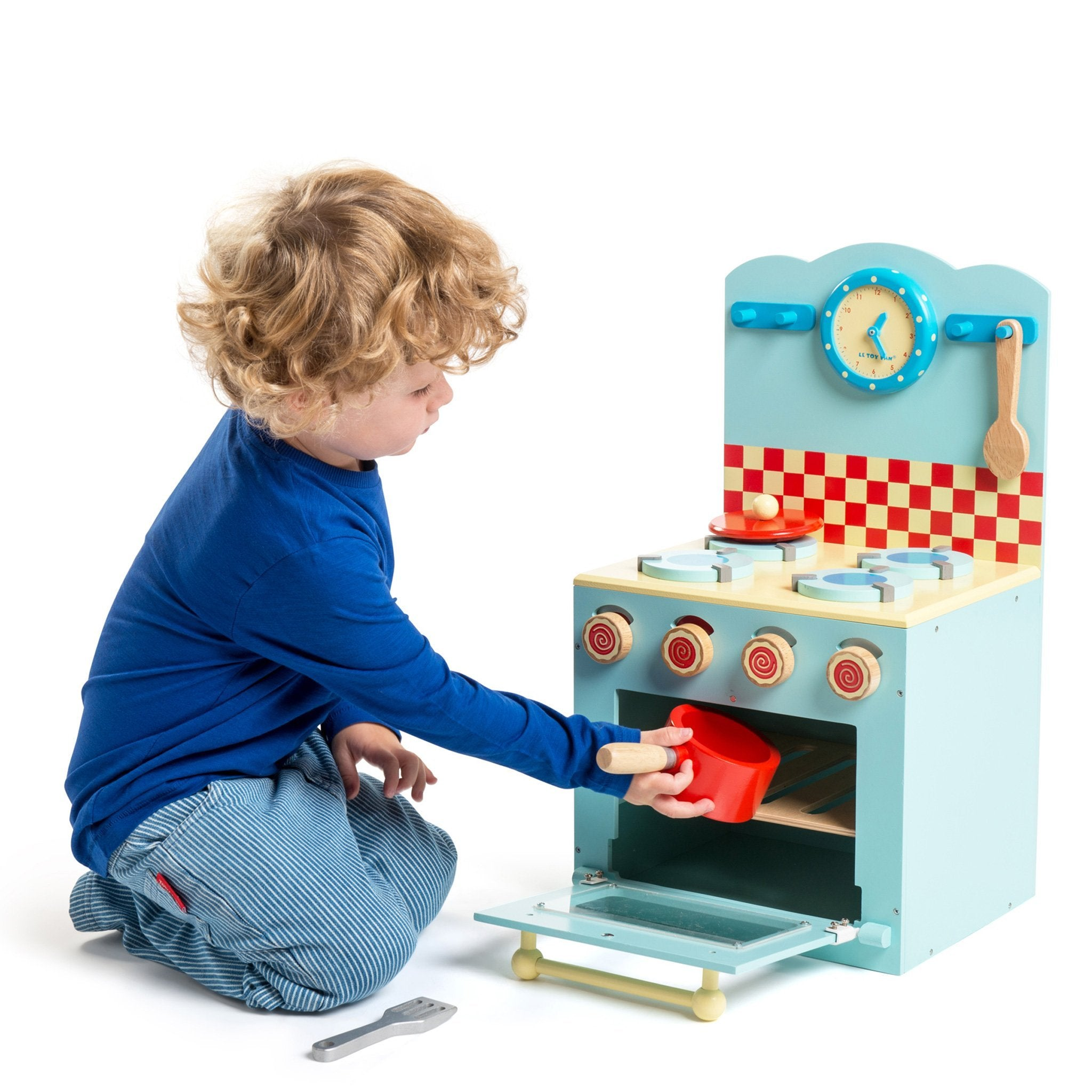 Le Toy Van Blue Oven and Hob Le Toy Van Toy Kitchens & Play Food at Little Earth Nest Eco Shop