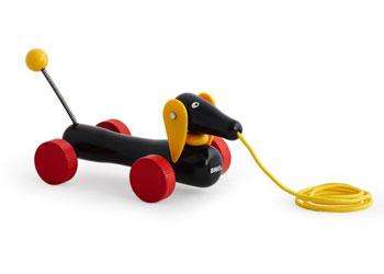 Brio Pull Along Wooden Dachshund Dog Brio Push and Pull Toys at Little Earth Nest Eco Shop