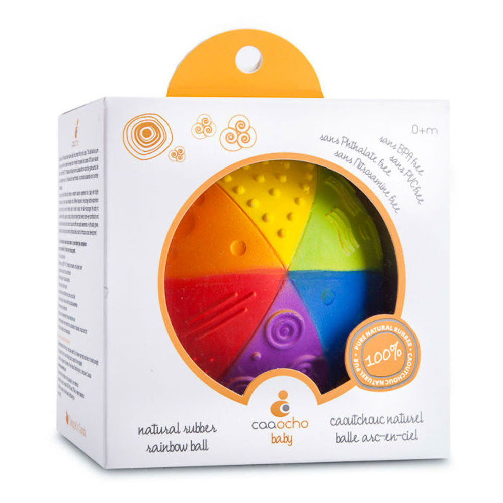 Natural Rubber Rainbow Sensory Ball   - Caaocho - Little Earth Nest - 1