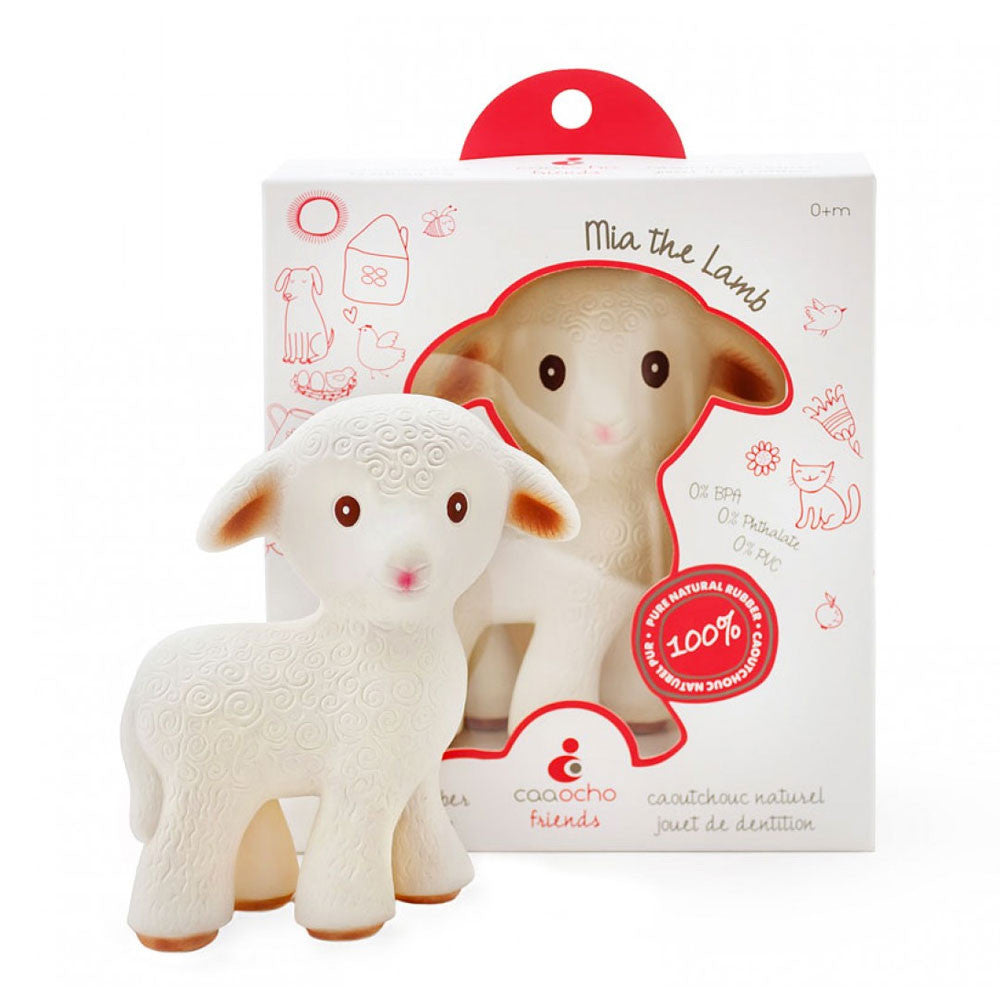 Caaocho Mia The Lamb Caaocho Dummies and Teethers at Little Earth Nest Eco Shop