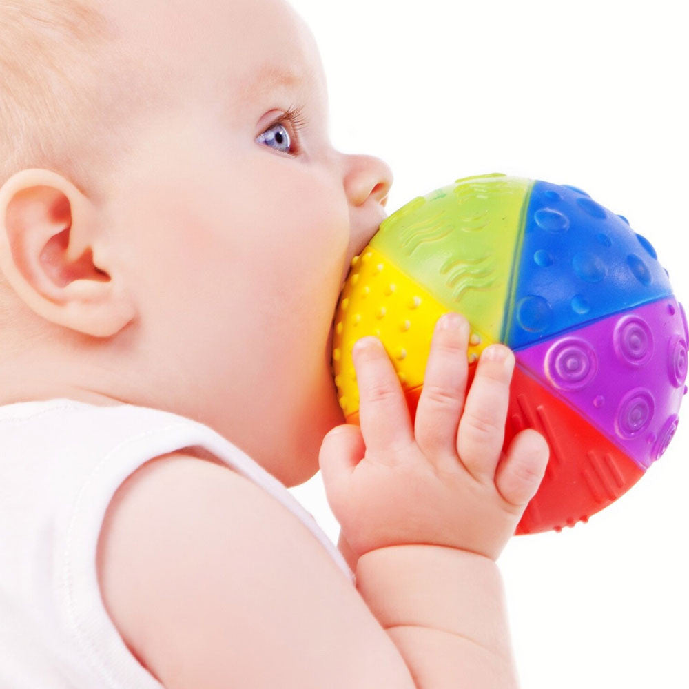 Natural Rubber Rainbow Sensory Ball   - Caaocho - Little Earth Nest - 2