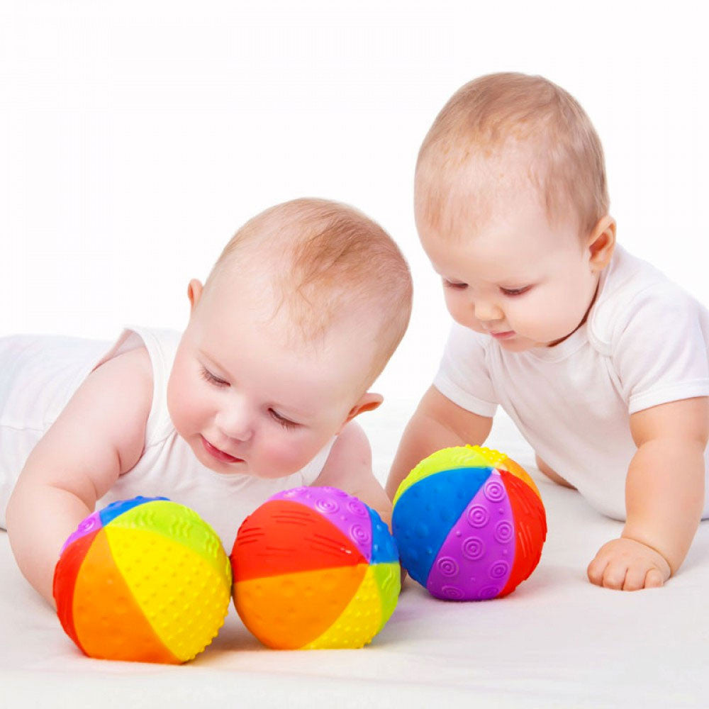 Natural Rubber Rainbow Sensory Ball   - Caaocho - Little Earth Nest - 3