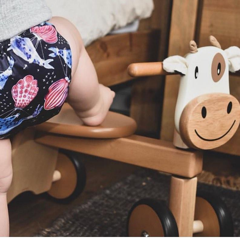 Calffy Paddie Rider Ride-On Cow Im Toy Kids Riding Vehicles at Little Earth Nest Eco Shop