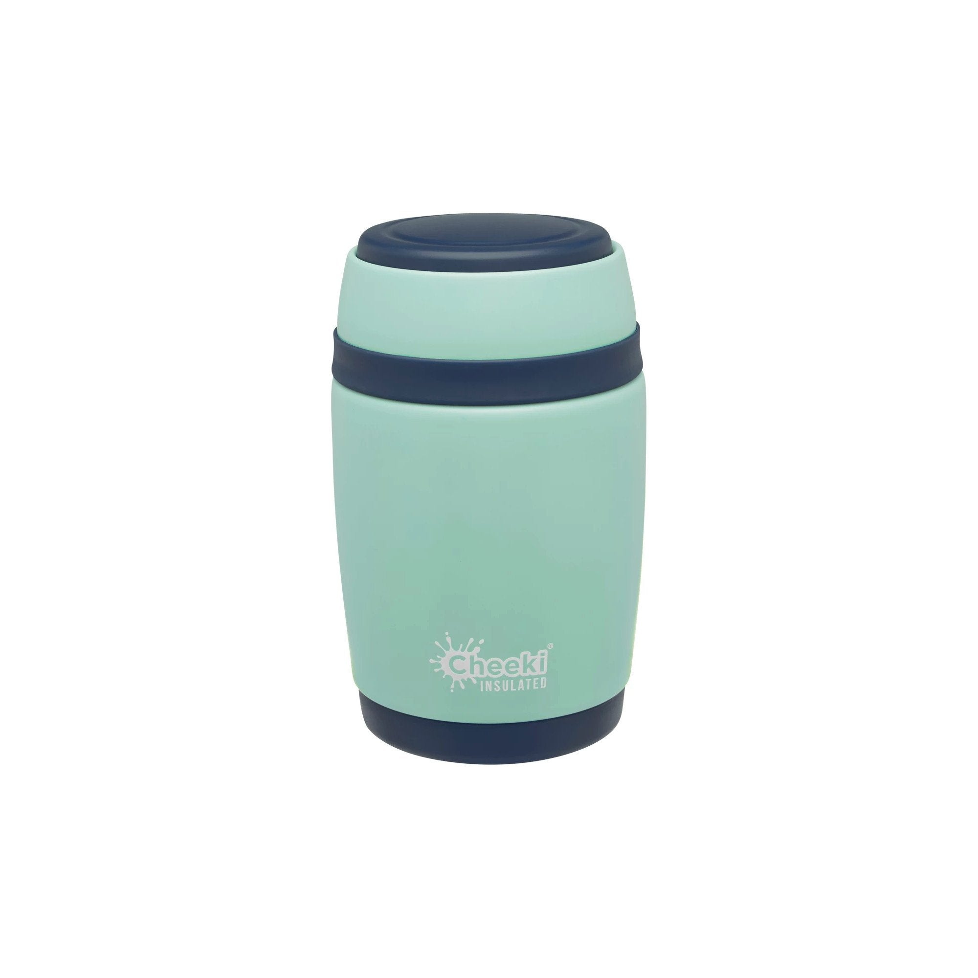 Cheeki Insulated Food Jar 480ml Cheeki Food Storage Containers Pistachio at Little Earth Nest Eco Shop