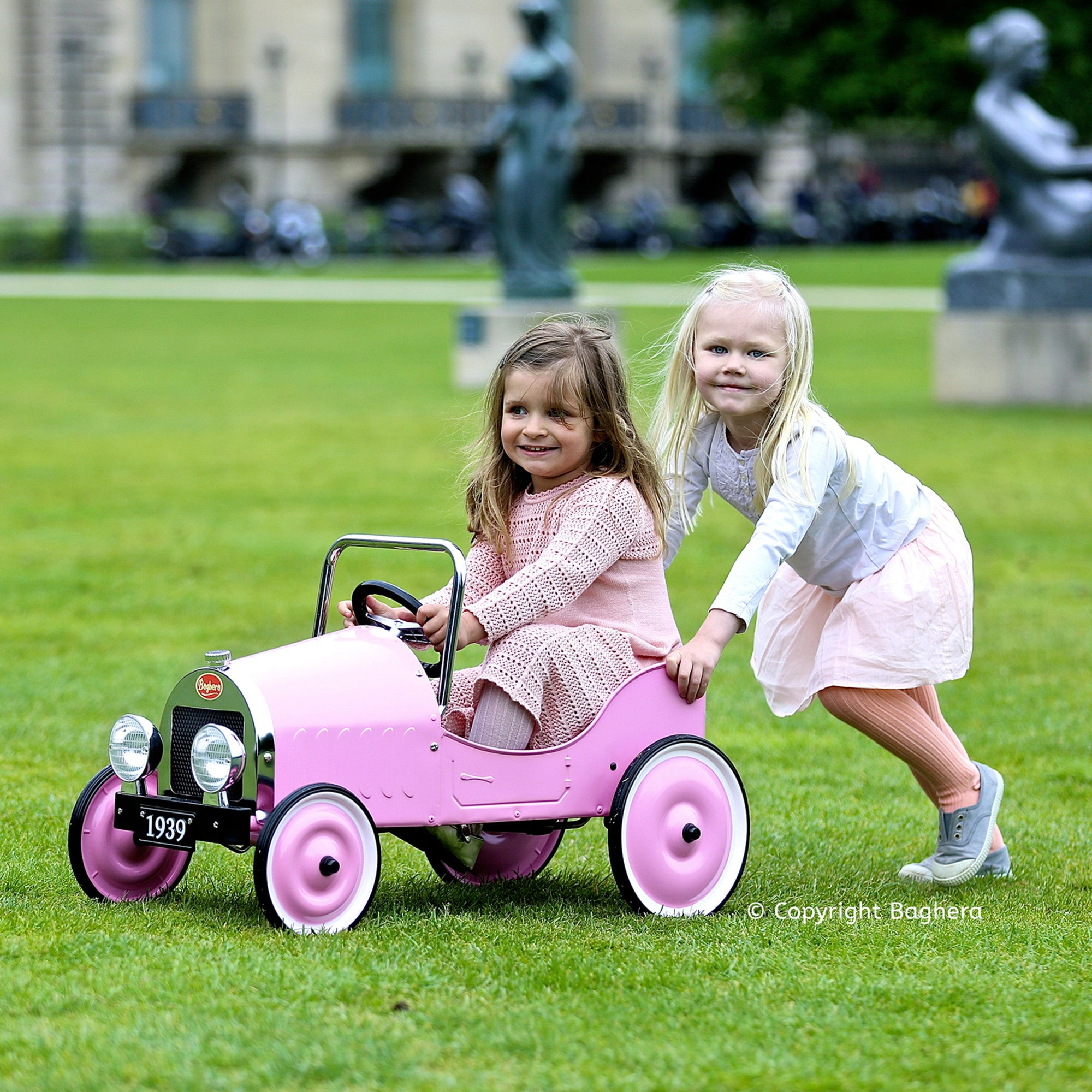 Classic Baghera Pedal Car Baghera Kids Riding Vehicles Pink at Little Earth Nest Eco Shop