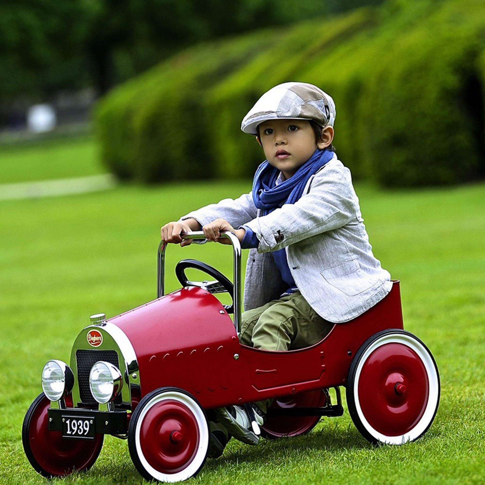 Classic Baghera Pedal Car Baghera Kids Riding Vehicles Red at Little Earth Nest Eco Shop