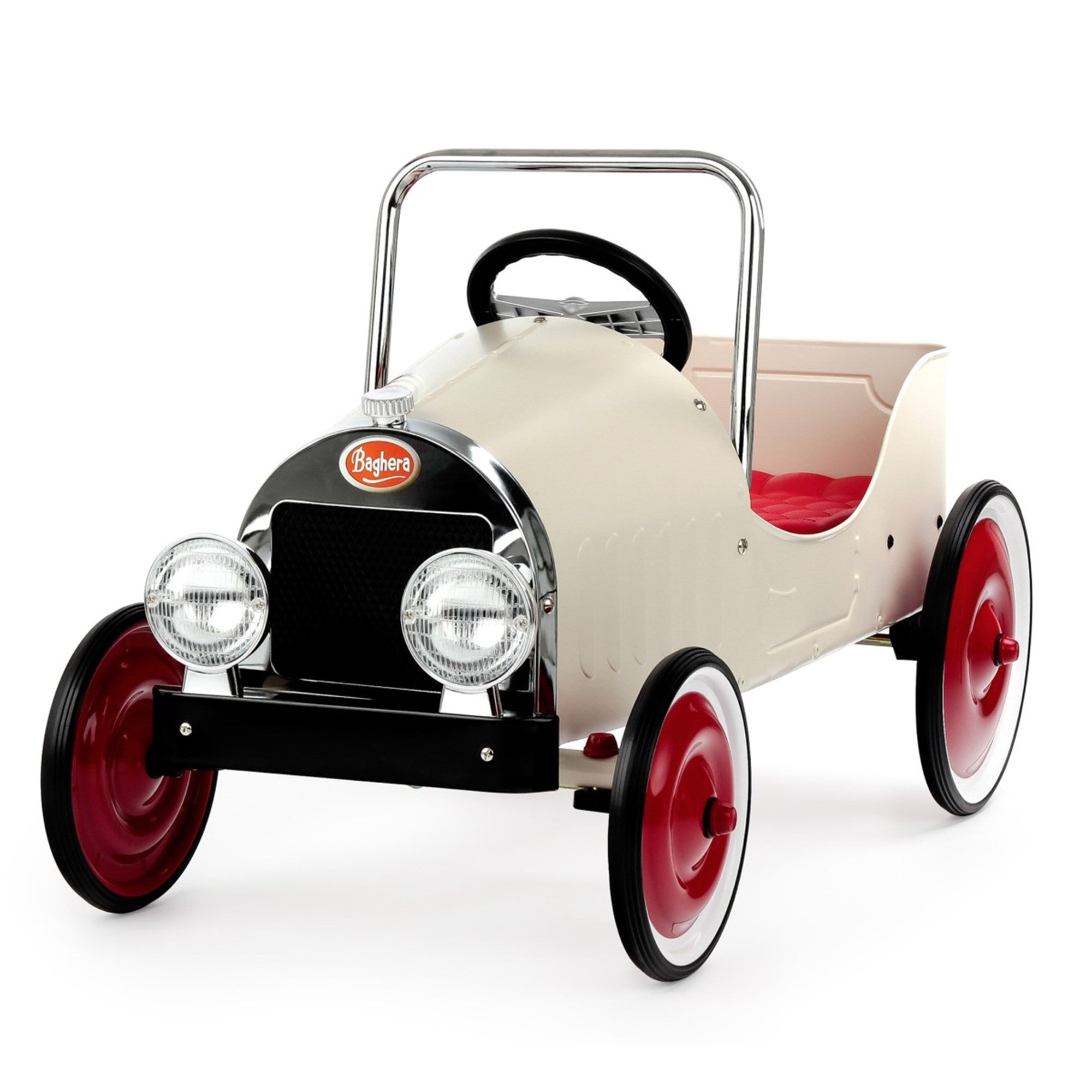 Classic Baghera Pedal Car Baghera Kids Riding Vehicles White at Little Earth Nest Eco Shop