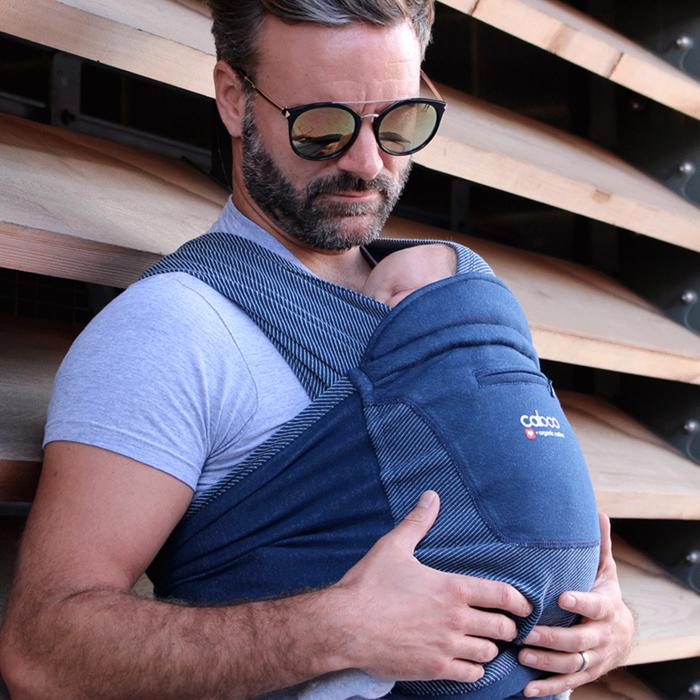 Close Caboo Organic Cotton Stretchy Baby Carrier Close Parent Baby Carriers at Little Earth Nest Eco Shop