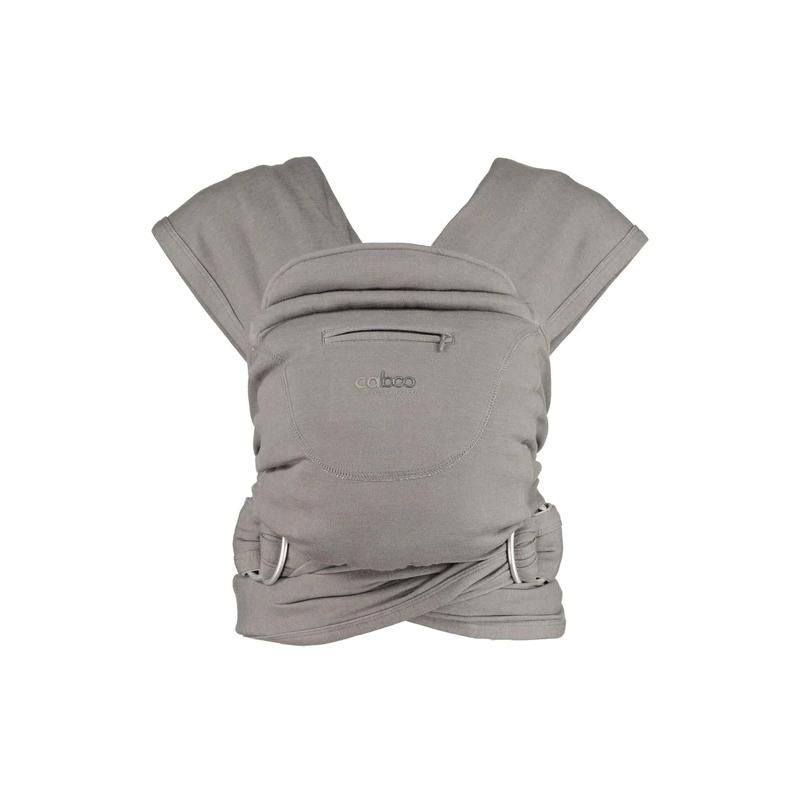 Close Caboo Organic Cotton Stretchy Baby Carrier Close Parent Baby Carriers Totally Taupe at Little Earth Nest Eco Shop