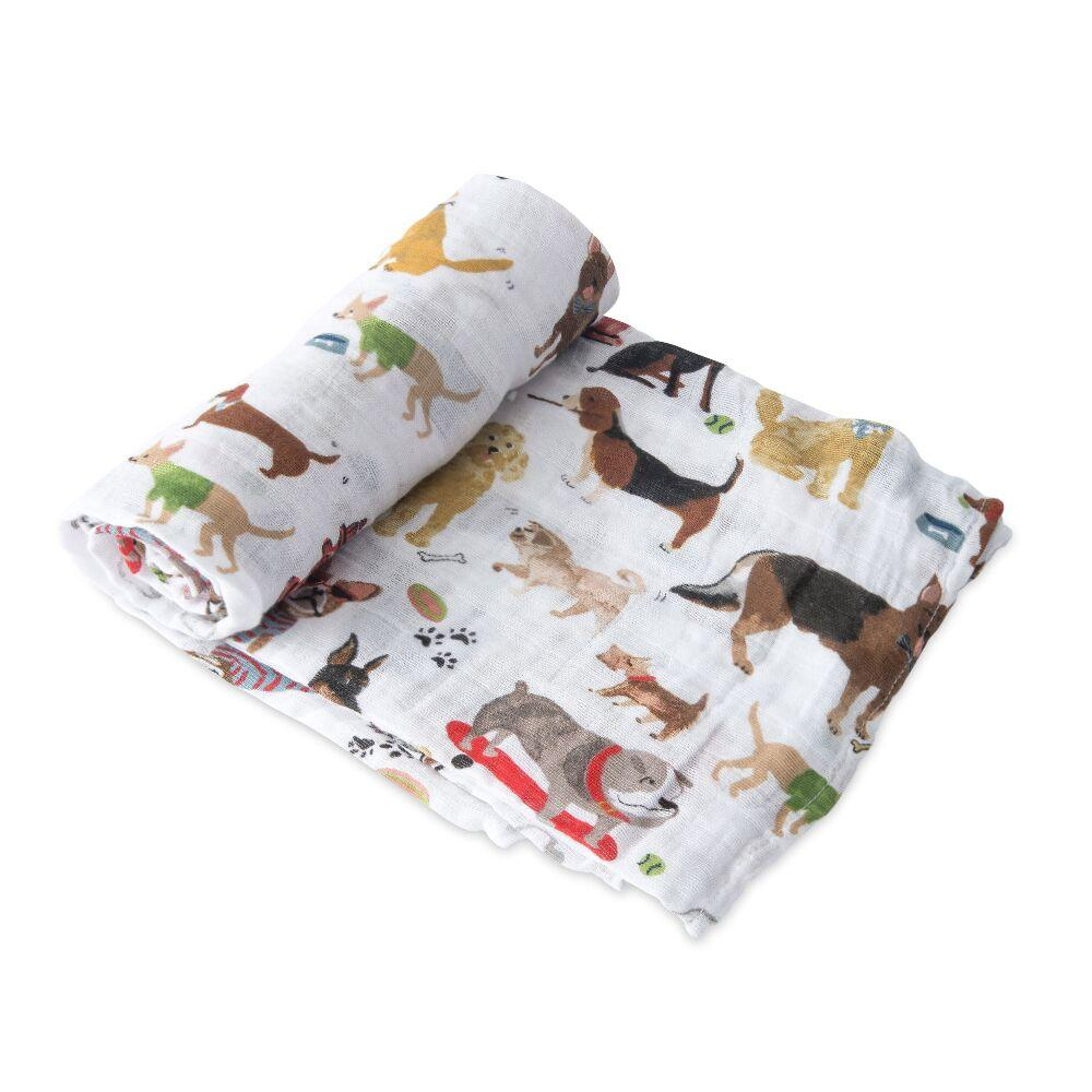 Cotton Muslin Swaddle Little Unicorn Bath and Body Woof at Little Earth Nest Eco Shop