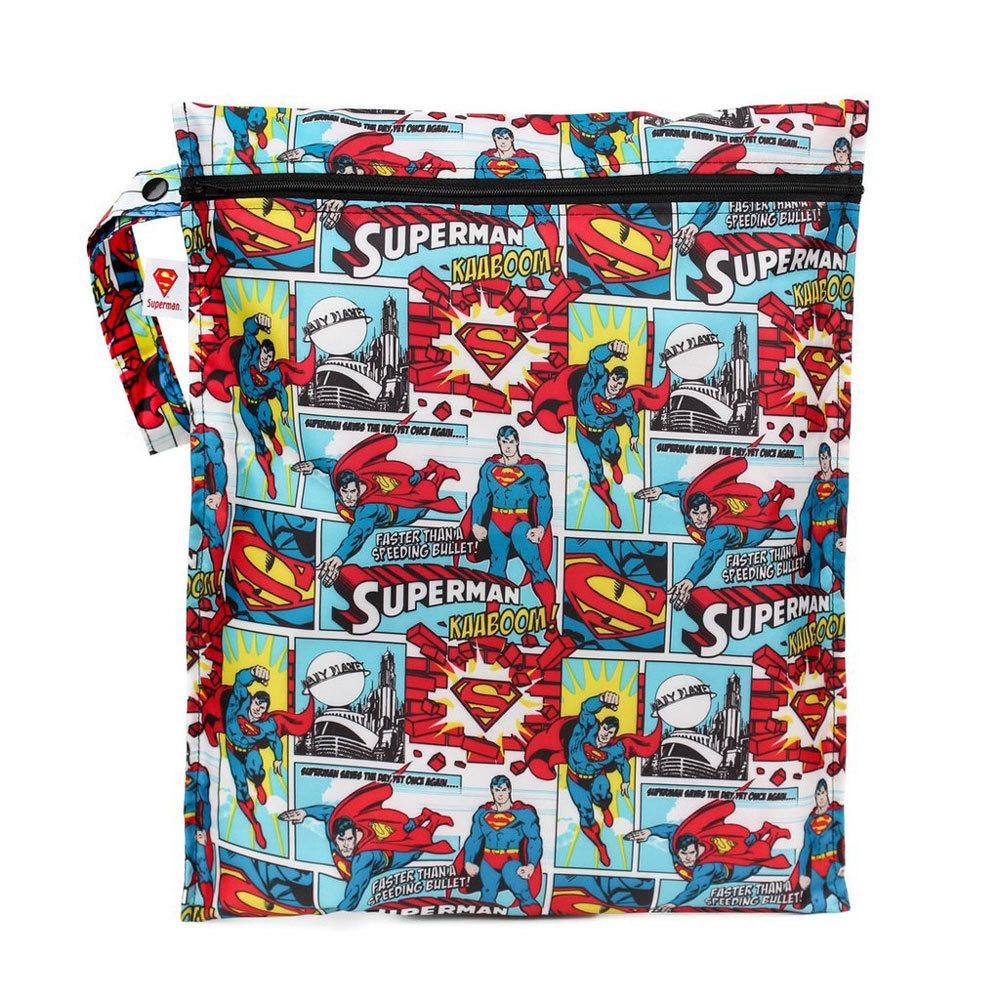 DC Comics Wet Bags Bumkins Reusable Bags Superman at Little Earth Nest Eco Shop