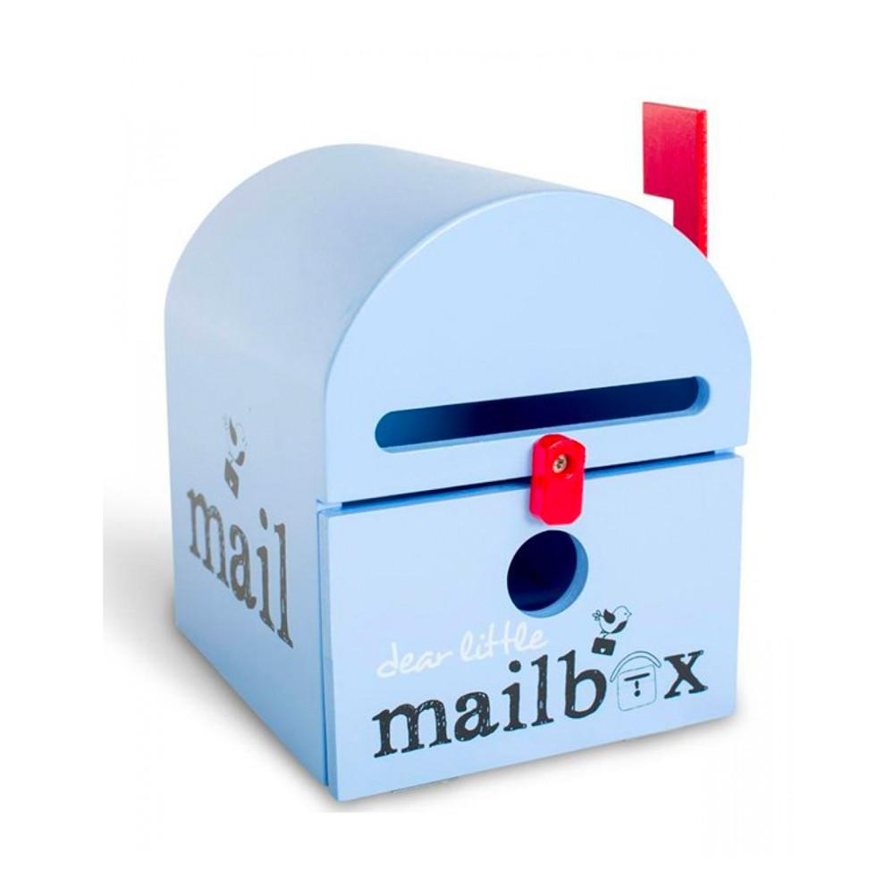 Dear Little Mailbox Dear Little Designs Activity Toys Blue at Little Earth Nest Eco Shop