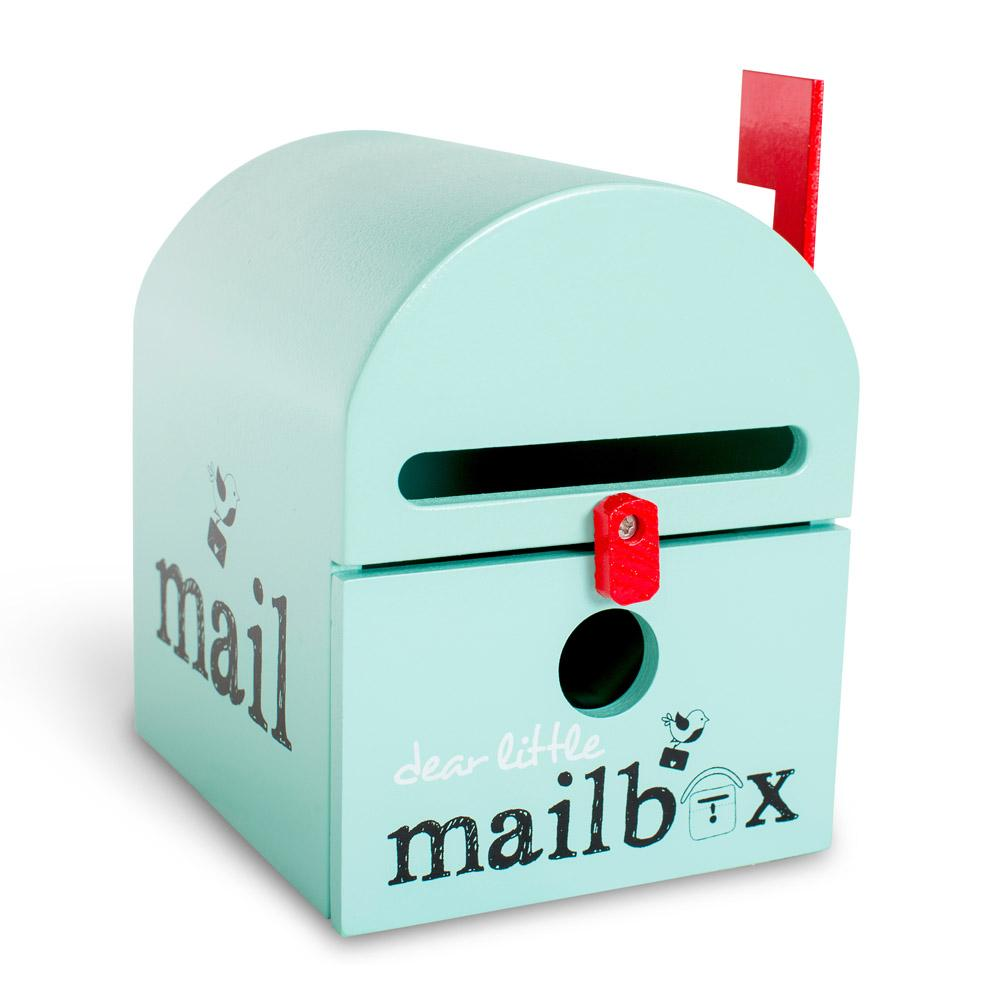 Dear Little Mailbox Dear Little Designs Activity Toys Mint at Little Earth Nest Eco Shop