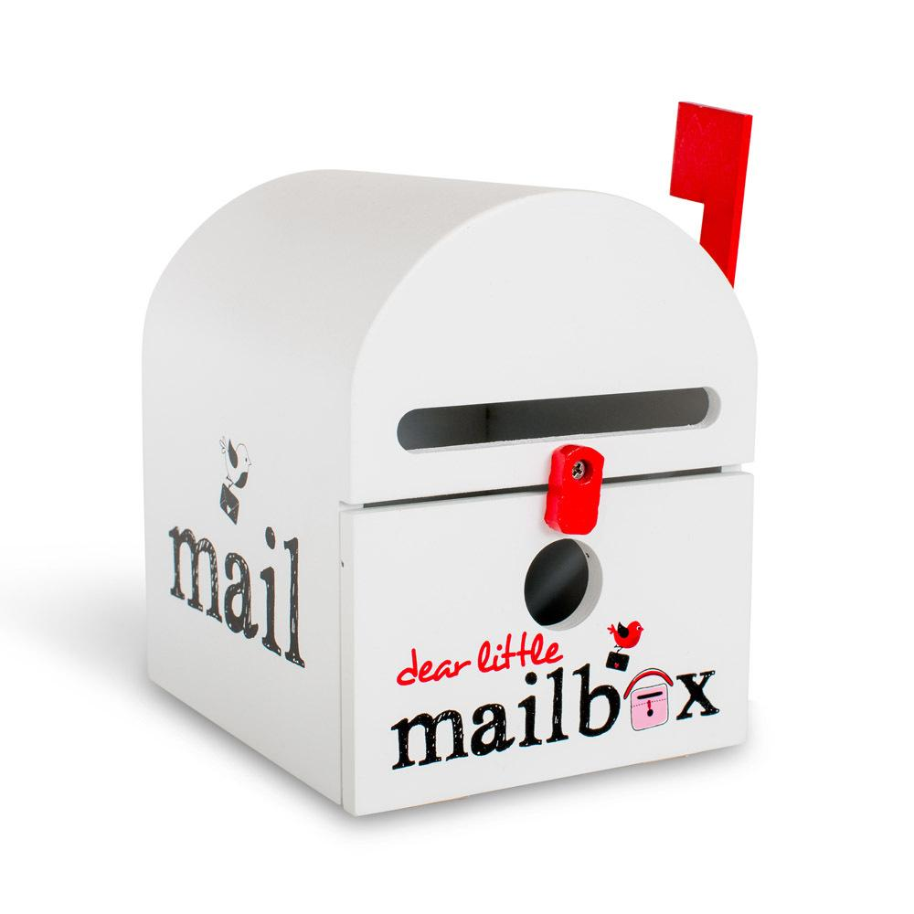 Dear Little Mailbox Dear Little Designs Activity Toys White at Little Earth Nest Eco Shop