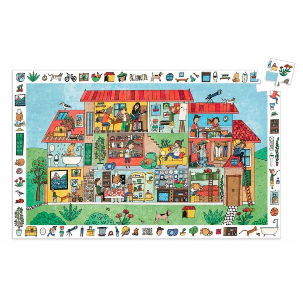 Djeco The House Observation Puzzle Djeco Puzzles at Little Earth Nest Eco Shop