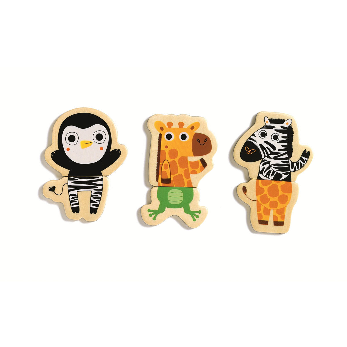 Djeco Cou Cou Animals Wooden Magnet Set Djeco Magnet Toys at Little Earth Nest Eco Shop