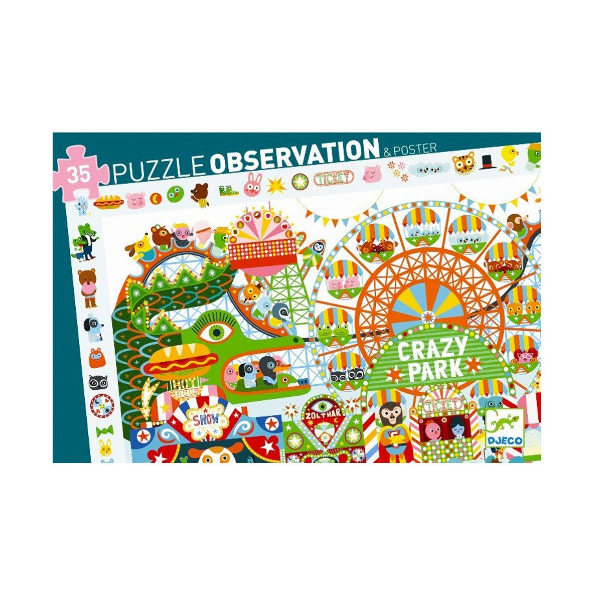 Djeco Crazy Park Puzzle Djeco Puzzles at Little Earth Nest Eco Shop