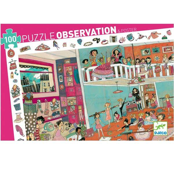 Djeco Puzzle Observation & Poster 100 Piece Dance Djeco General at Little Earth Nest Eco Shop