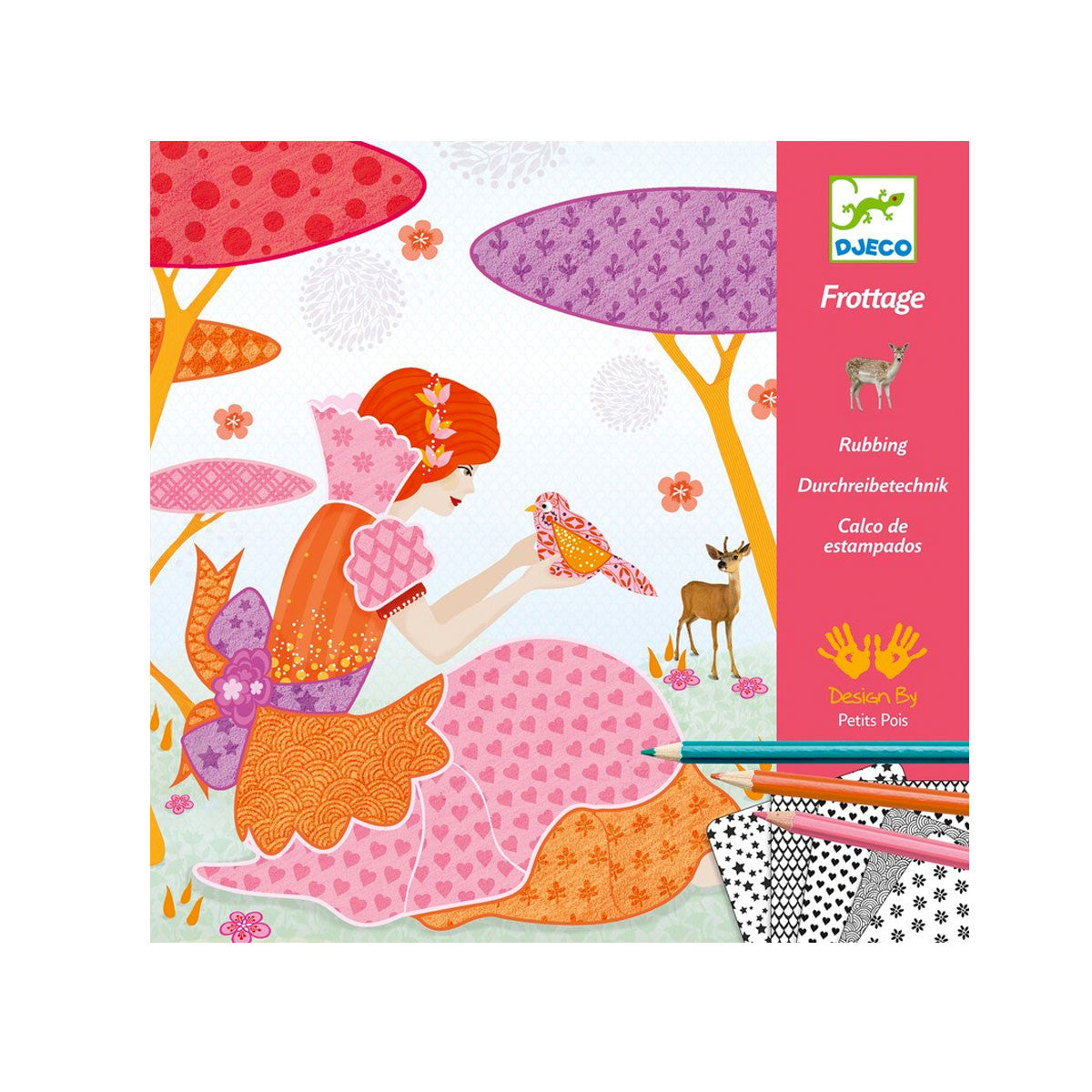 Djeco Patterns to Rub Djeco Activity Toys My Beautiful Dresses at Little Earth Nest Eco Shop