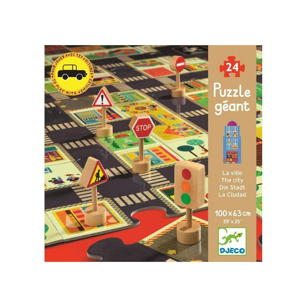 Djeco Giant Puzzle The City Djeco Puzzles at Little Earth Nest Eco Shop