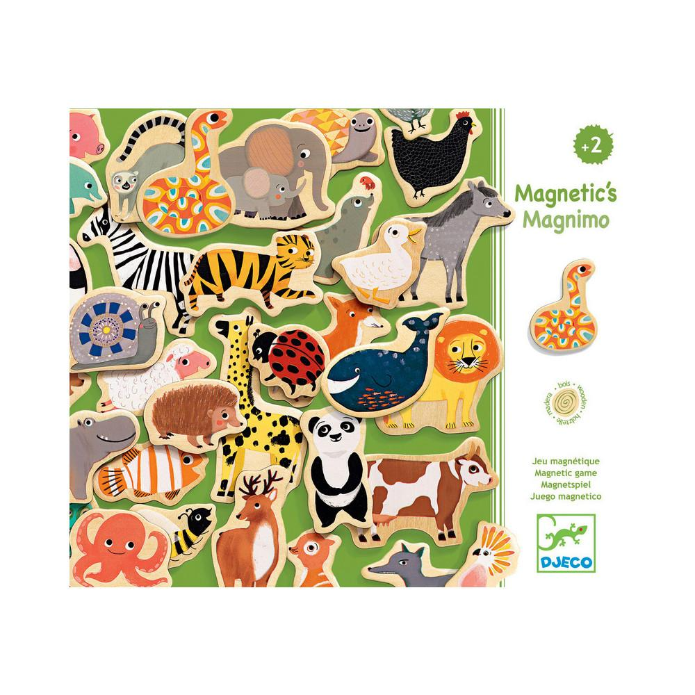 Djeco Magnimo Wooden Magnet Set Djeco Magnet Toys at Little Earth Nest Eco Shop