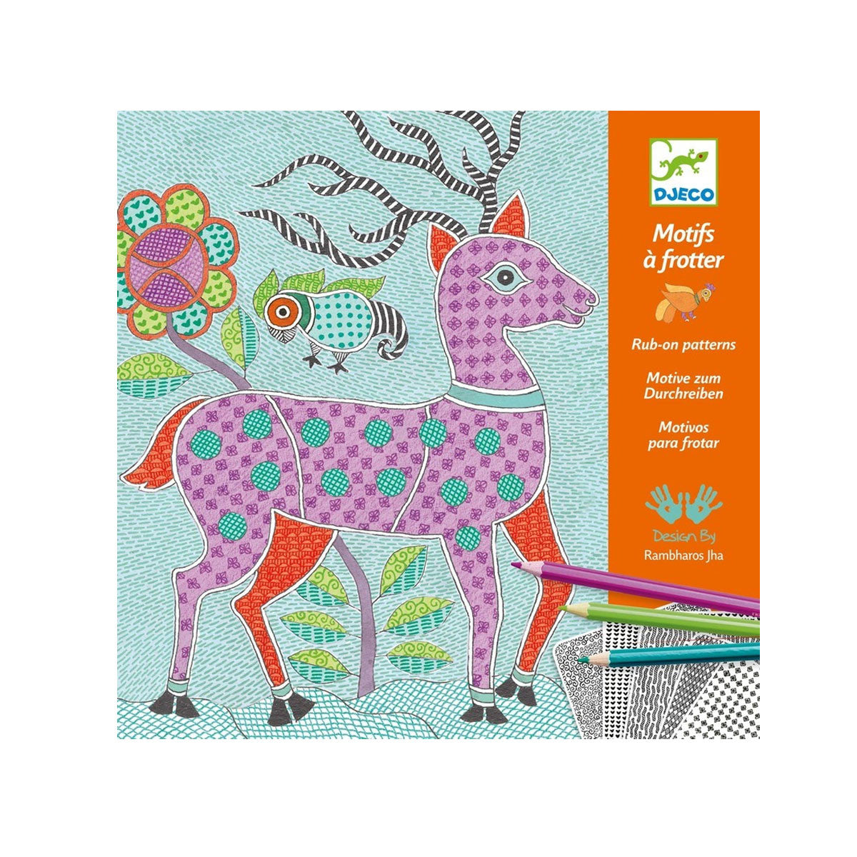 Djeco Patterns to Rub Djeco Activity Toys Mithila at Little Earth Nest Eco Shop