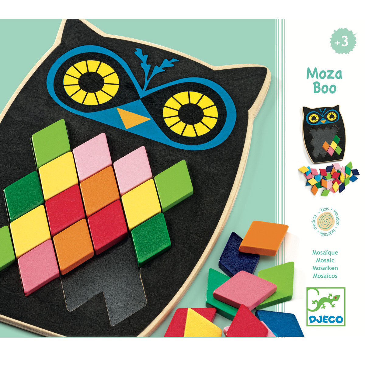 Djeco Mosaic Puzzle  Mosa Boo - Djeco - Little Earth Nest - 3