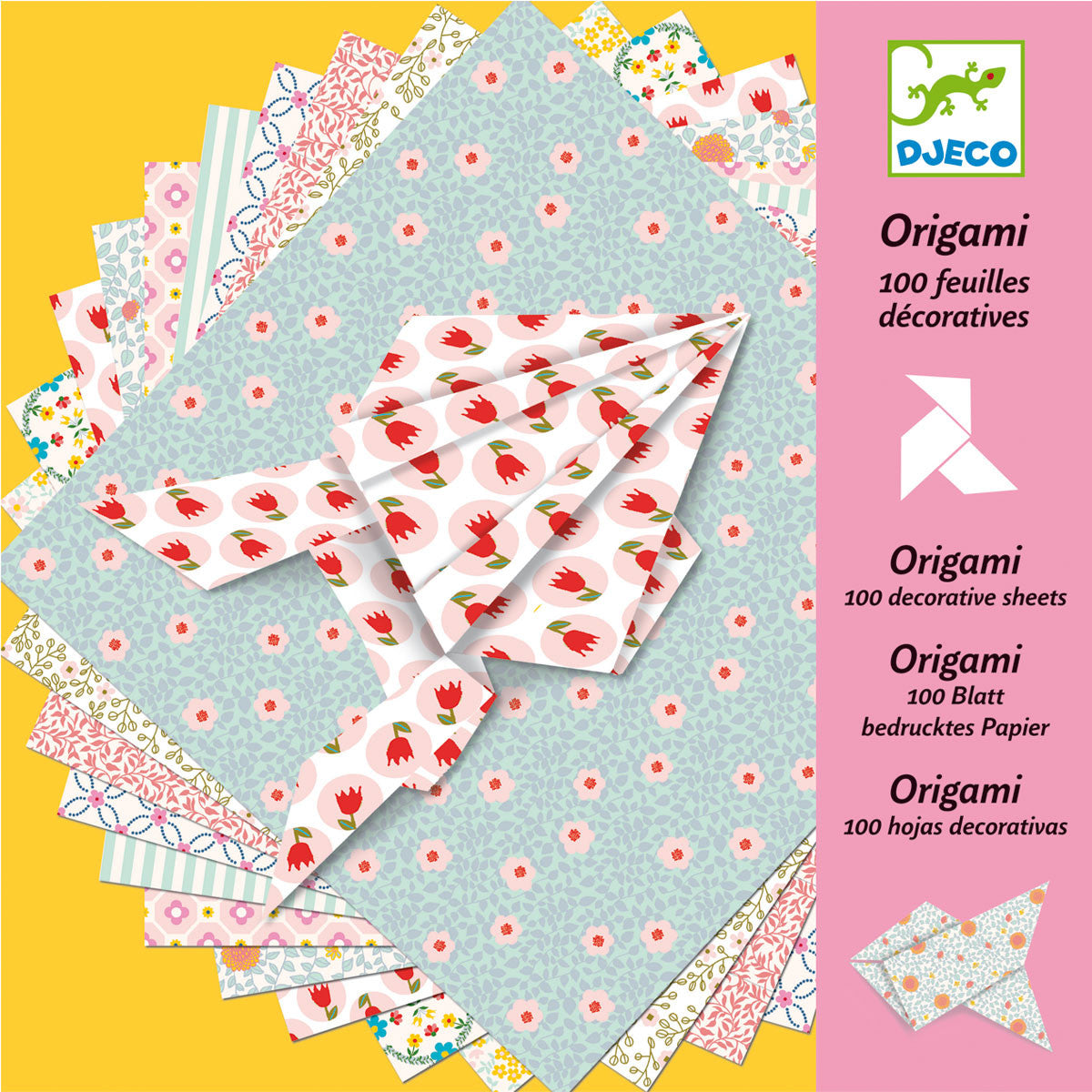 Djeco Origami 100 Sheets Djeco Origami Paper Decorative Sheets at Little Earth Nest Eco Shop
