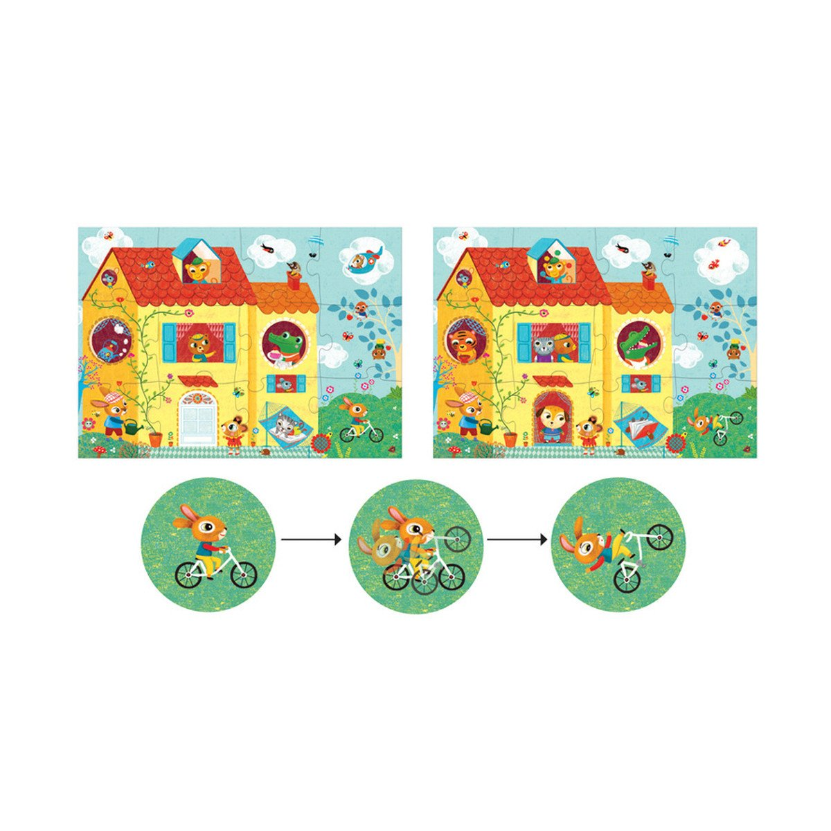 Djeco Giant Puzzle The House Djeco Puzzles at Little Earth Nest Eco Shop