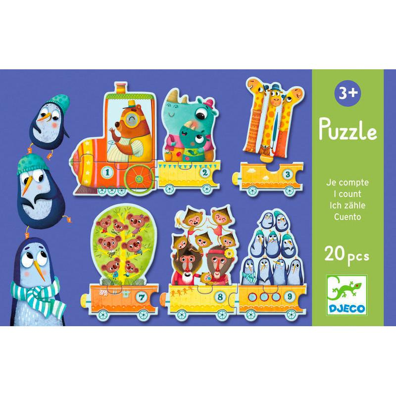 Djeco Duo Puzzle Djeco Puzzles Counting at Little Earth Nest Eco Shop
