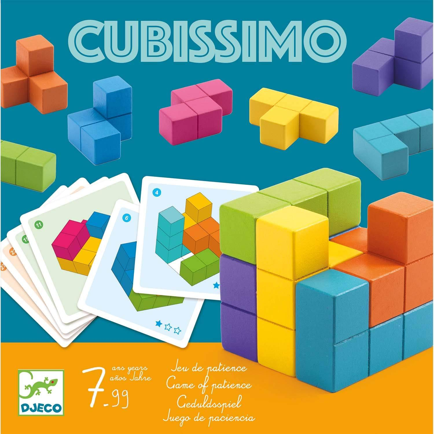 Djeco Cubissimo Wooden Cube Puzzle Djeco Puzzles at Little Earth Nest Eco Shop