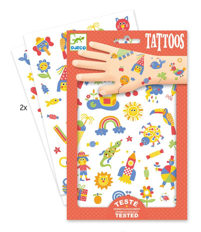 Kids Dermatologically Tested Body Tattoos by Djeco Djeco Art and Craft Kits at Little Earth Nest Eco Shop