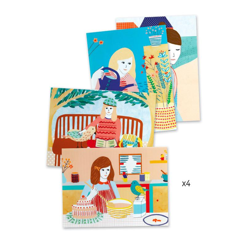 Djeco My Lil Joys Paper Embroidery Activity Set Djeco Art and Craft Kits at Little Earth Nest Eco Shop