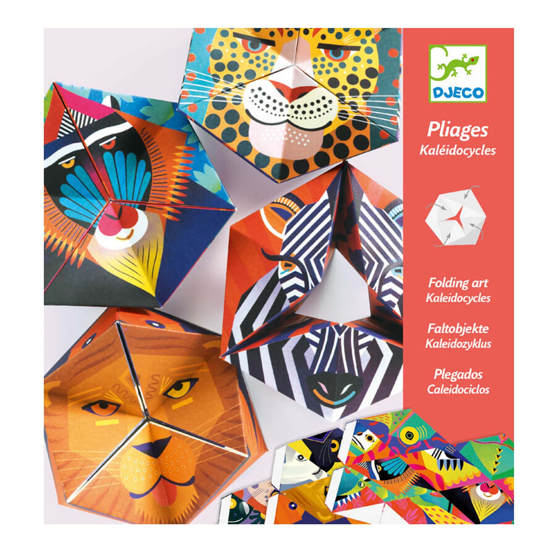 Djeco Kaleidocycles Folding Art Djeco Art and Craft Kits at Little Earth Nest Eco Shop