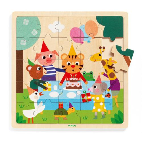 Djeco Wooden Puzzlo Happy 25pcs Puzzle Djeco Puzzles at Little Earth Nest Eco Shop