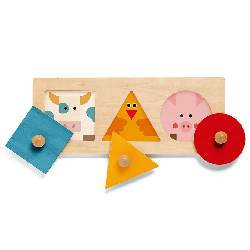 Djeco Formabasic Wooden Shapes Puzzle Djeco Puzzles at Little Earth Nest Eco Shop